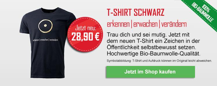 T-Shirt schwarz: erkennen - erwachen - verändern