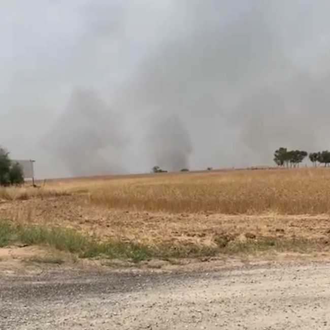 Brennende Felder Südisrael