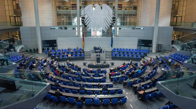 Foto: Jens Spahn spricht im Bundestag, Oktober 2020