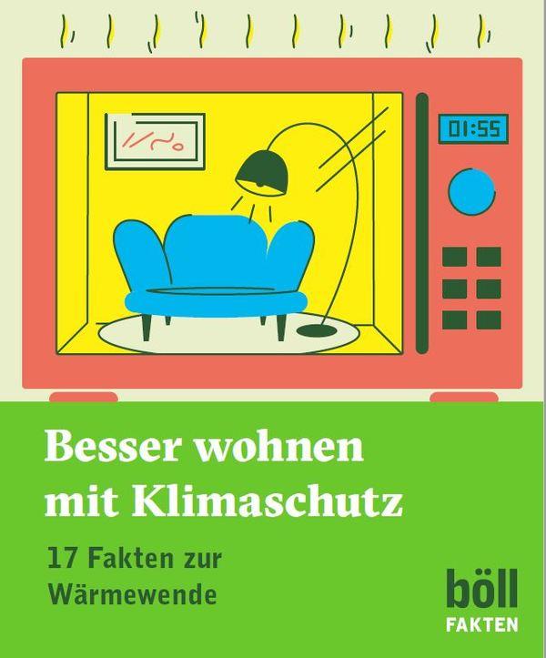 Das Bild zeigt die Titelseite der Publikation Besser wohnen mit Klimaschutz / Quelle: Böll.Fakten