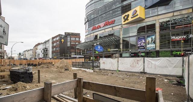 Bauarbeiten auf der Karl-Marx-Straße
