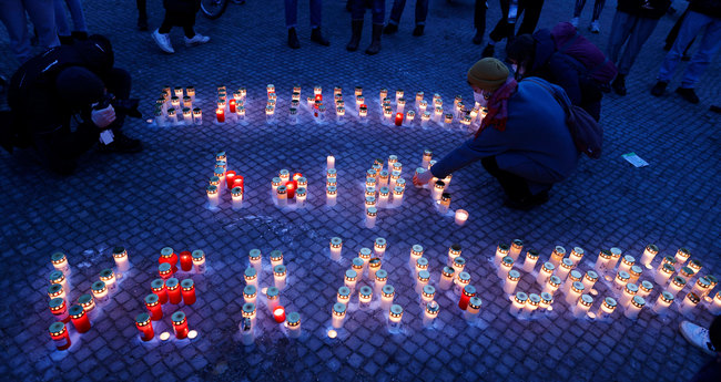 Foto: Gedenken an das Attentat in Hanau,