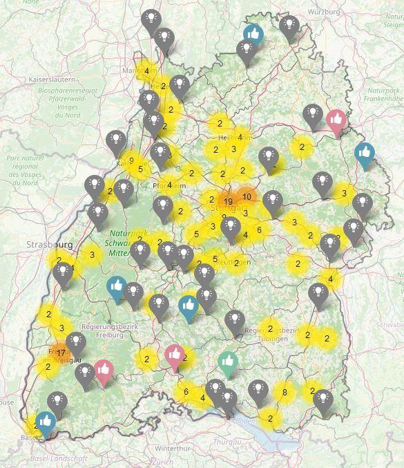 Das Bild zeigt eine der neuen Mobilitätssäulen in Baden-Württemberg / Quelle: Verkehrsministerium BW